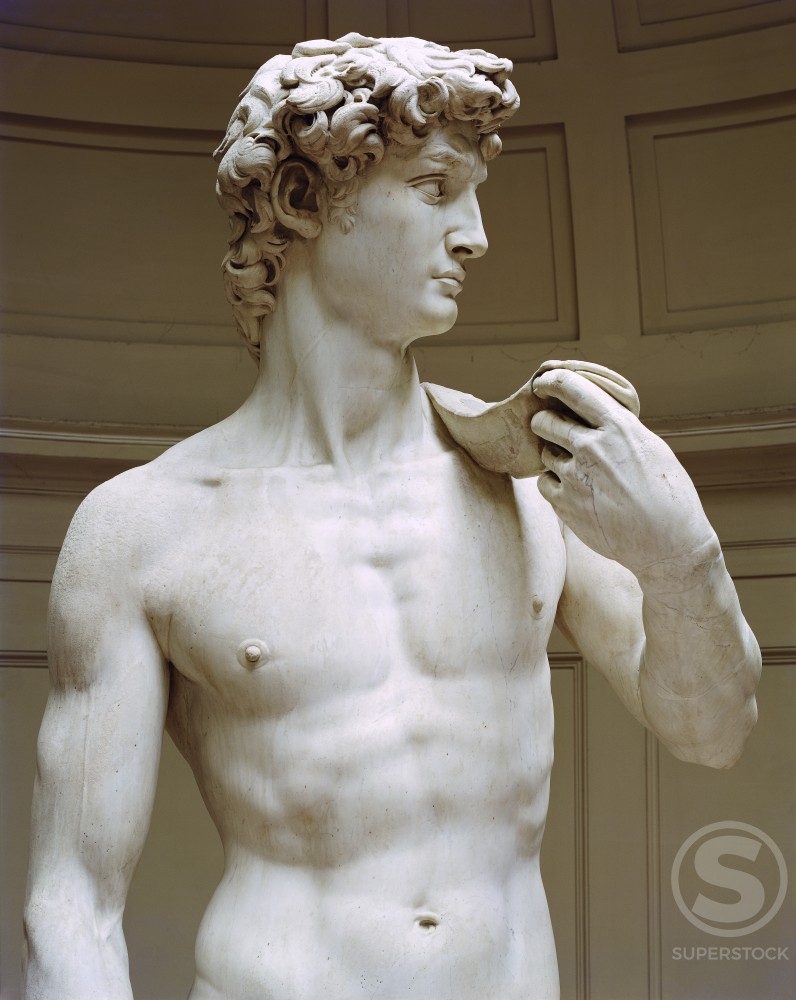 Stock Photo: 3804-397065 David (Detail) 