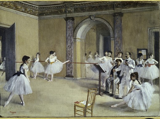 Stock Photo: 3804-397101 The Dance Foyer at the Opera on the Rue Le Peletier