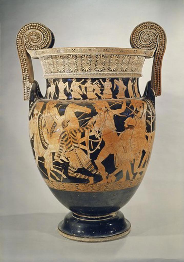 Stock Photo: 3804-397139 Panatenaic Amphora (Vase) Greek Art Museo Archeologica Naples, Italy