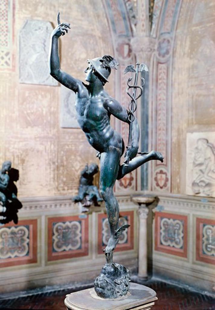 Stock Photo: 3804-398007 Mercury Giambologna (1529-1608 Flemish) Bronze Bargello National Museum, Florence, Italy