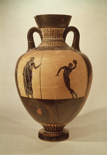 Stock Photo: 3804-398011 Attic Black-figure Amphora Depicting Achilles and Penthisilia
