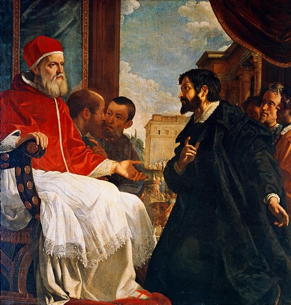 Stock Photo: 3804-398016 Julius II At Bologna Michelangelo Buonarroti (1475-1564 Florentine)