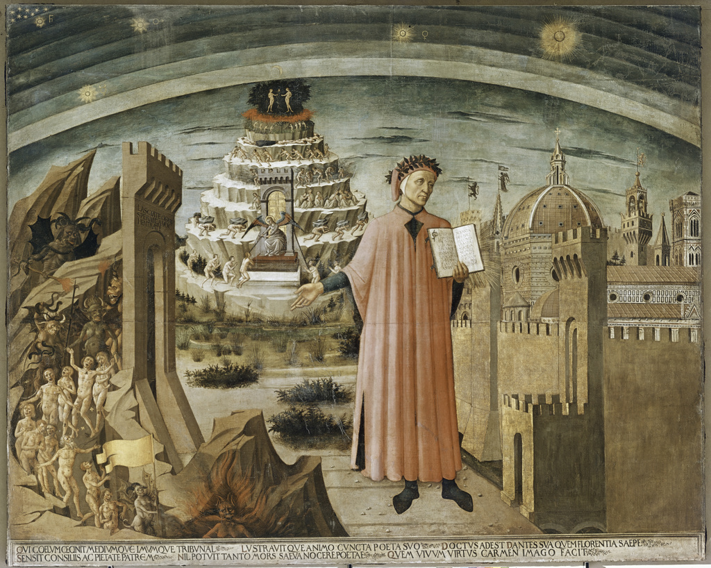 Stock Photo: 3804-398018 Dante and his Poem 