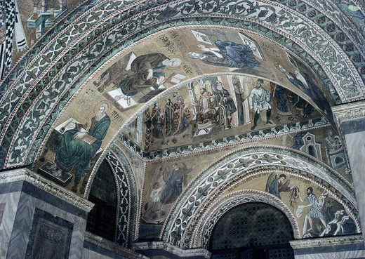 Stock Photo: 3804-399996 Four Evangelists & OthersArtist UnknownMosaicBasilica di San Marco, Venice, Italy
