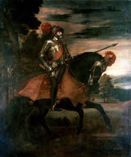 Stock Photo: 3804-407150 Charles V at the Battle of Muhlberg
