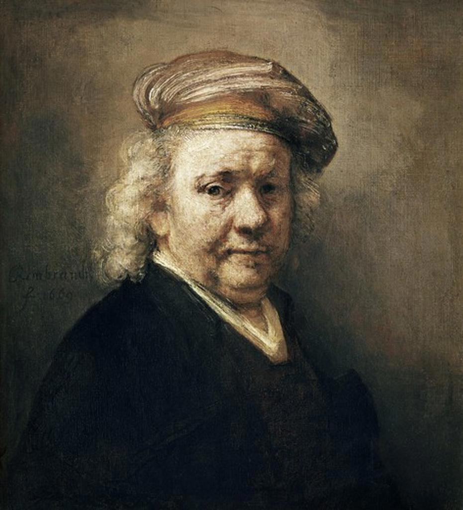 Self Portrait   1669 Rembrandt Harmensz van Rijn (1606-1669 Dutch) Oil on canvas Mauritshuis, The Hague, Netherlands  : Stock Photo