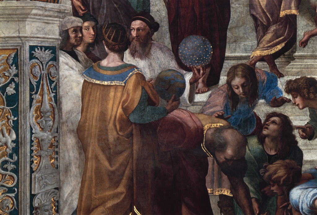 Stock Photo: 3804-501 The School of Athens  (Detail) 