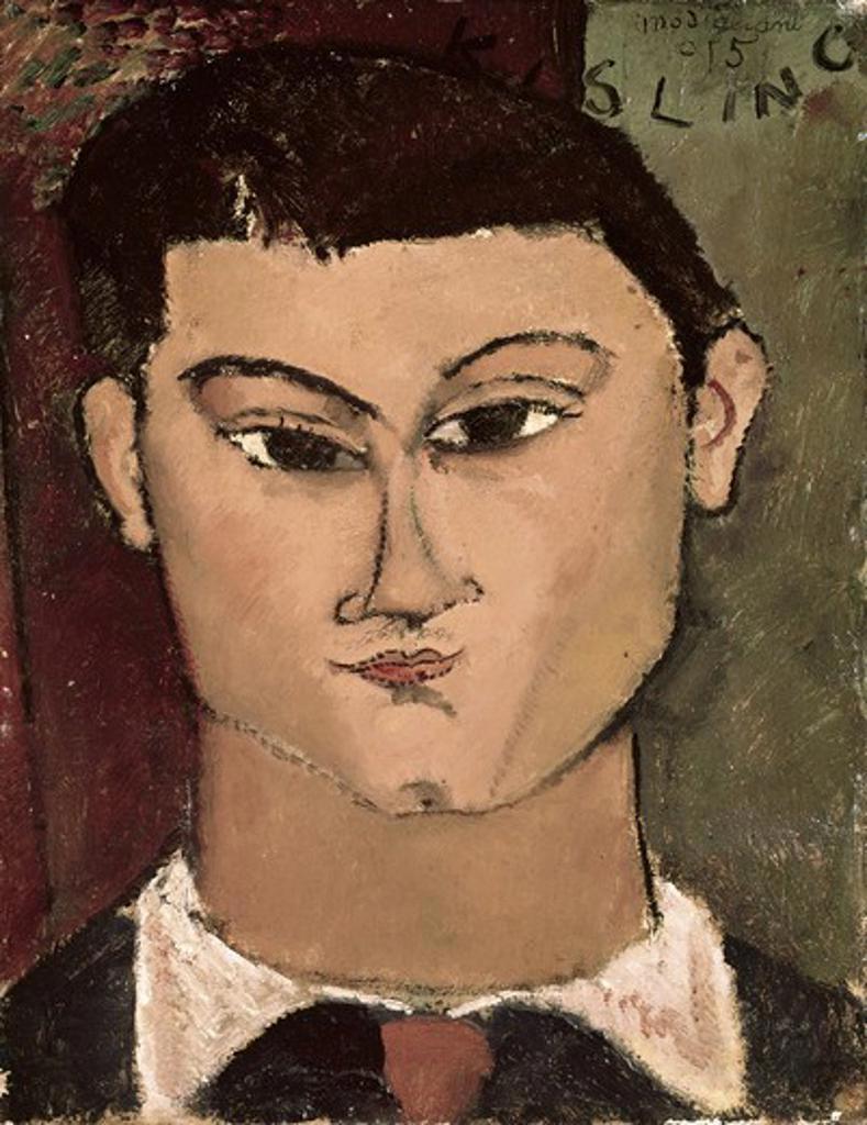 Stock Photo: 3805-439616 Portrait of the Painter Moise Kisling  1908 Amedeo Modigliani (1884-1920 Italian) Oil on canvas Pinacoteca di Brera, Milan, Italy