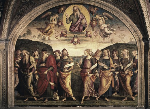 Stock Photo: 3805-441059 The Almighty with Prophets & Sybils