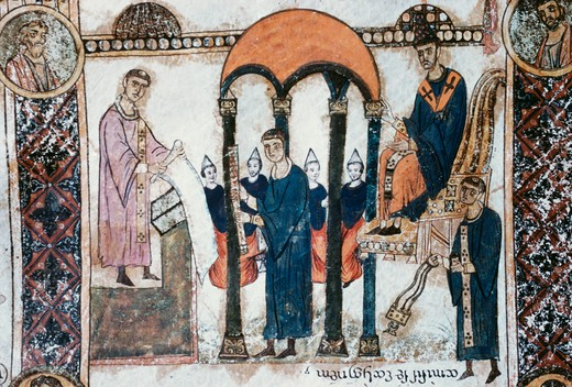 Stock Photo: 3810-412 Holy Saturday Scroll: A Parable Illustration