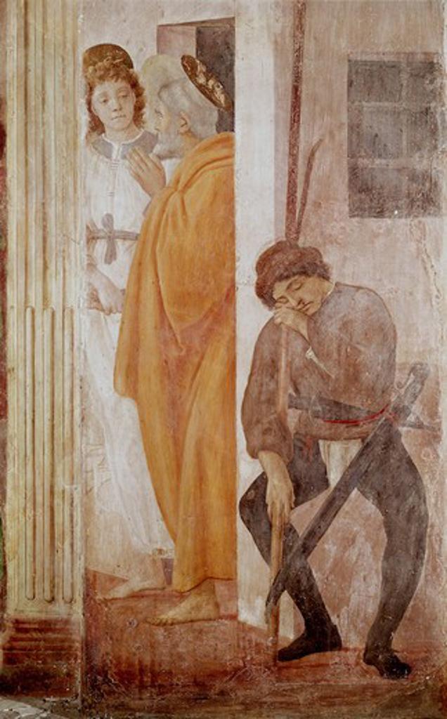 Stock Photo: 3810-412518 St. Peter 1425-28 Masaccio (1401-1428 Italian) Fresco Cappella Brancacci, Santa Maria del Carmine, Florence, Italy