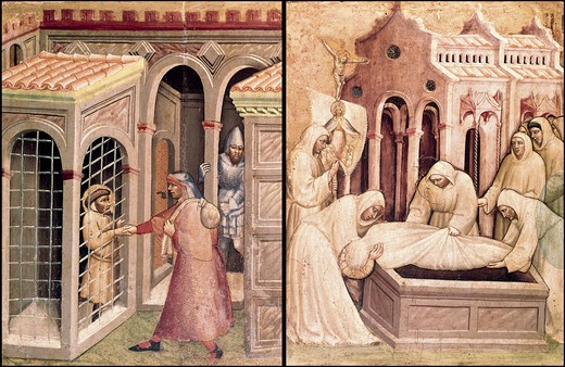 Stock Photo: 3810-412559 Opera Of Mercy by Lorenzo Monaco, 1370-1425, Vatican City, Vatican Museums and Galleries