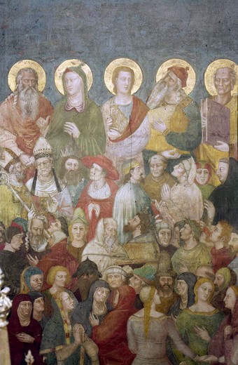 The Last Judgment (Detail) by Nardo di Cione, (active 1343-d.1365) : Stock Photo