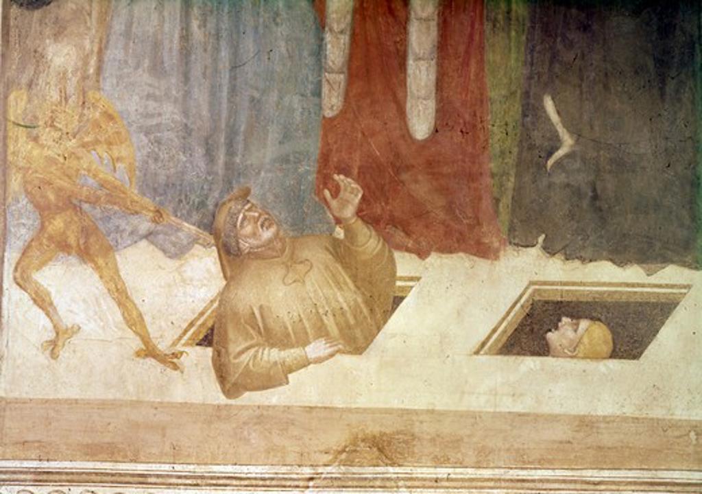 The Last Judgement (Detail) Nardo di Cione (active 1343-d.1365Italian) : Stock Photo