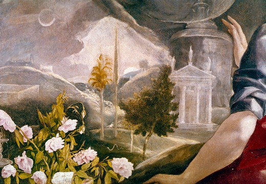 Stock Photo: 3810-412586 The Immaculate Conception by El Greco, 1541-1614,  Spain, Toledo, Iglesia Santa Cruz