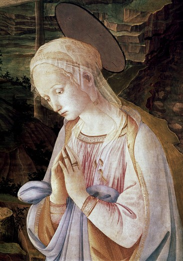 Stock Photo: 3810-412623 Madonna & Child With Angels - Detail 