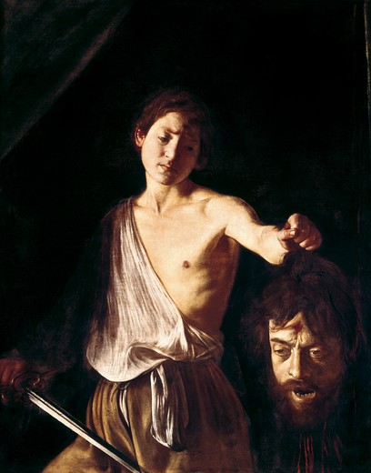 Stock Photo: 3810-412635 David With The Head Of Goliath Michelangelo Merisi da Caravaggio (1571-1610 Italian)