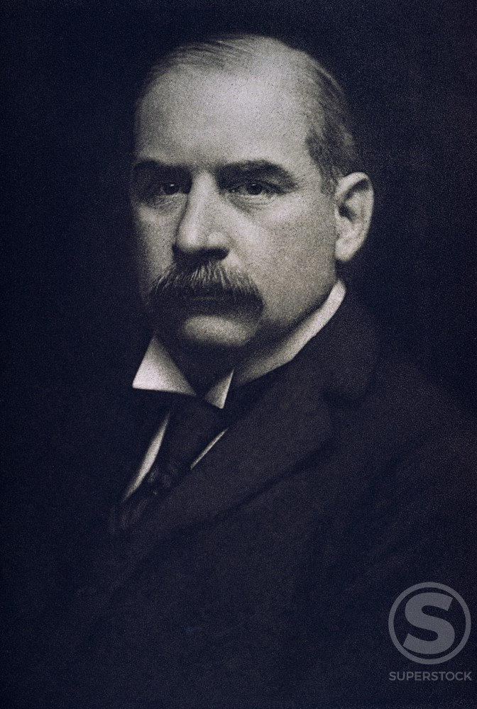 Stock Photo: 3810-536429 John Pierpont Morgan American Financier and Industrialist (1837-1913)