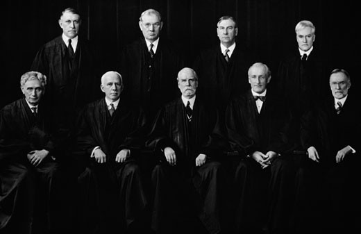Stock Photo: 3810-536480 United States Supreme Court, under Chief Justice Charles Evans Hughes, USA, 1932