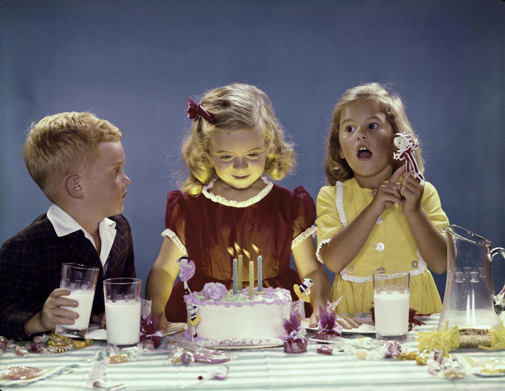 Stock Photo: 3811-361876 Children celebrating a birthday party