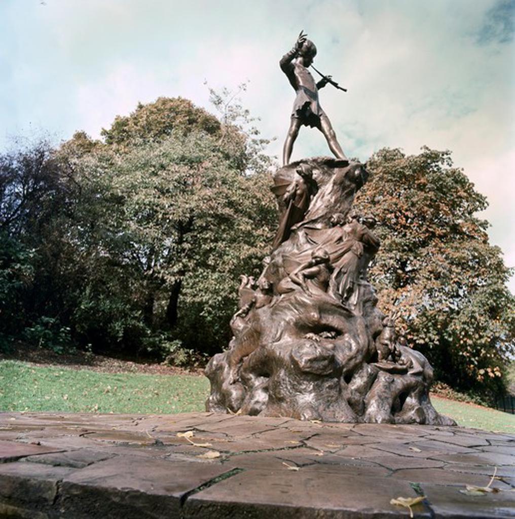 Stock Photo: 3812-460223 Peter Pan Statue George James Frampton (British 1860-1928) Sculpture Kensington Gardens, London