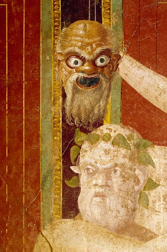 Stock Photo: 3815-395644 Roman fresco, Circa.60-50 BC, Italy, Pompeii, Villa of the Mysteries