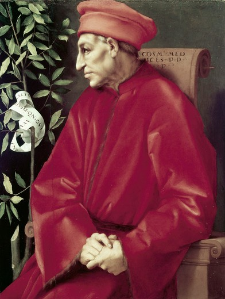 Cosimo De Medici Jacopo Pontormo (1494-1557 Italian) Galleria degli Uffizi, Florence, Italy : Stock Photo