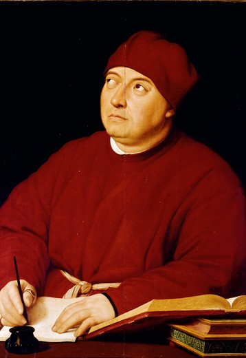 Stock Photo: 3815-395691 Count Tommaso Inghirami by Raphael Santi, 1483-1520, Italy, Florence, Palazzo Pitti, Palatine Gallery