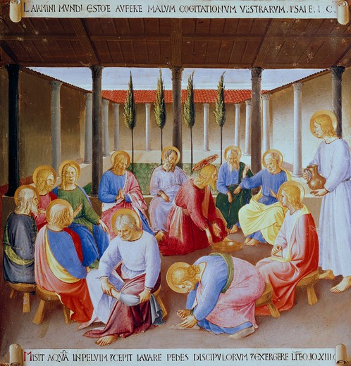 Stock Photo: 3815-398576 Christ Washing The Feet Of The Apostles
