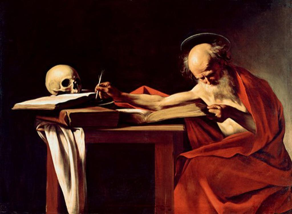 Stock Photo: 3815-398881 Saint Jerome Michelangelo Merisi da Caravaggio (1571-1610 Italian)