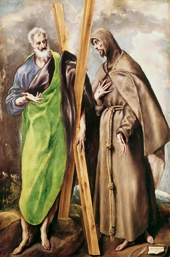 Stock Photo: 3815-398886 St. Andrew & St. Francis