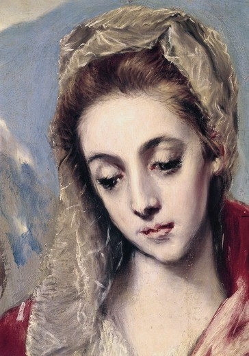 Stock Photo: 3815-400865 Holy Family - Detail Of Madonna