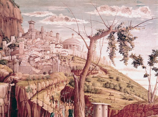 France, Tours, Musee des Beaux-Arts, garden of Gethsemane by Andrea Mantegna, (1431-1506) : Stock Photo