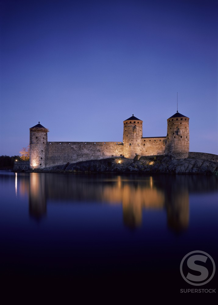 Stock Photo: 3815-9940 Olavinlinna Castle