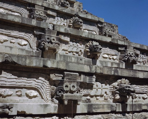 Stock Photo: 3834-16256 Temple of Quetzalcoatl