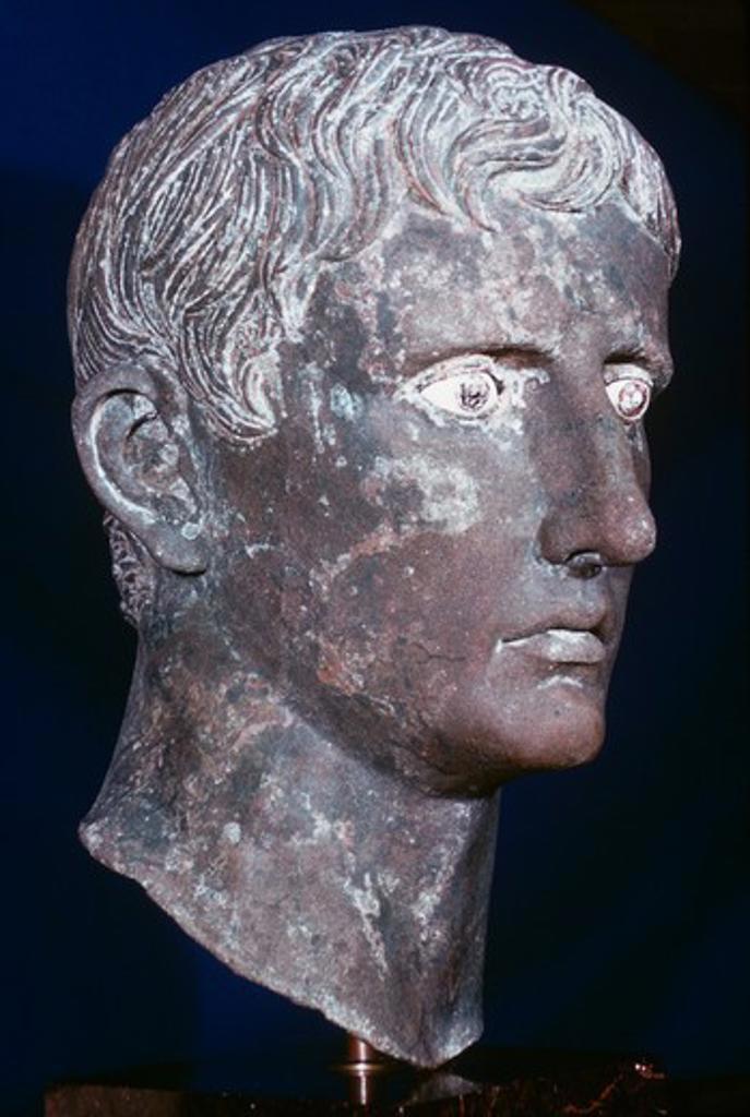 Stock Photo: 3844-118 Augustus Artist Unknown Sculpture