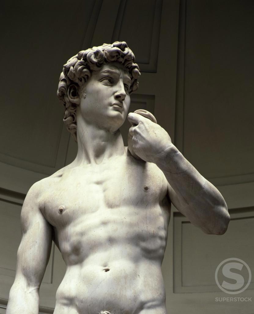Stock Photo: 3844-200 David (Detail) 1501  Michelangelo Buonarotti (1475-1564/Italian) Marble Galleria dell 'Accademia, Florence
