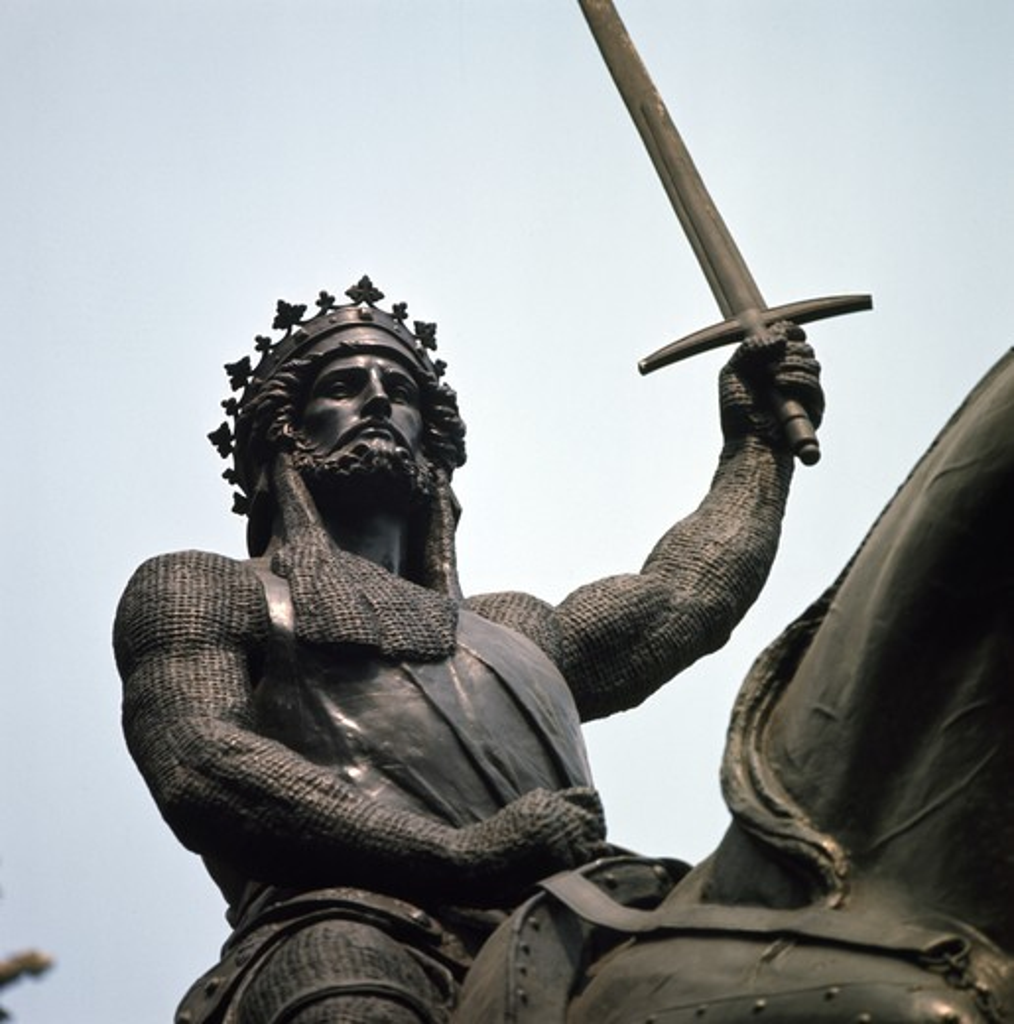 Stock Photo: 3844-433244 Richard I Statue (Coeur de Lion) Sculpture