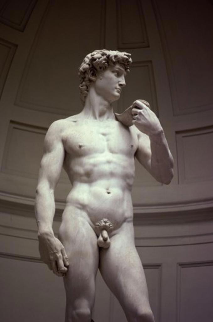 Stock Photo: 40-2848 David (Detail) Michelangelo Buonarroti (1475-1564/Italian) Marble Galleria dell 'Accademia, Florence