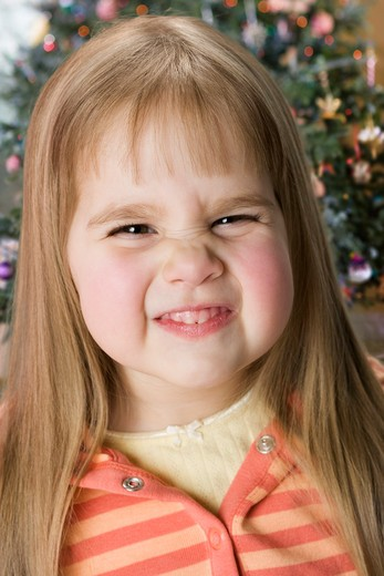 Stock Photo: 4001-1073 Close-up of a girl making a face