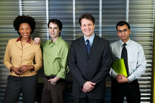 Stock Photo: 4001-209 Business executives standing in an office