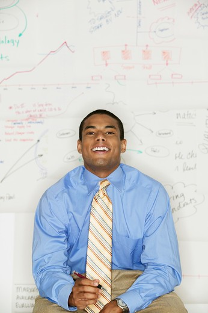 Stock Photo: 4001-521 Portrait of a businessman smiling