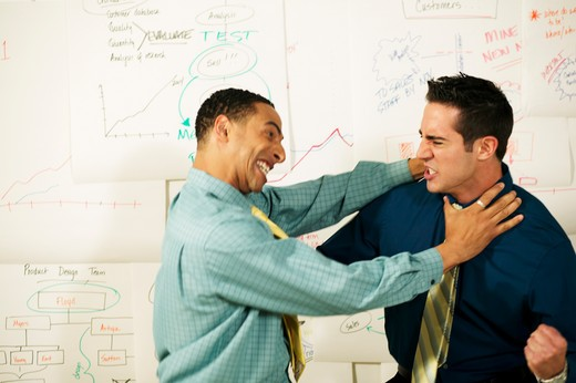 Stock Photo: 4001-567 Two businessmen fighting