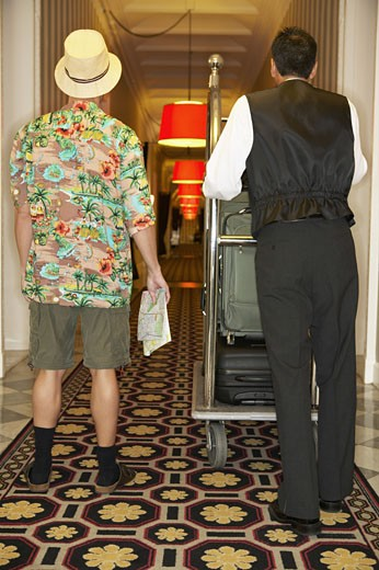 Stock Photo: 4001-736 Tourist arrived at a hotel