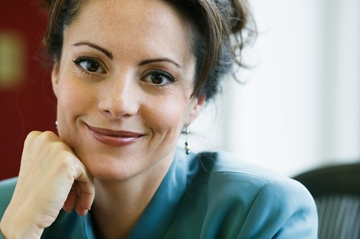 Stock Photo: 4001-926C Portrait of a businesswoman smiling