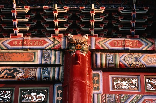 Stock Photo: 4009-1003 Details of a temple, Forbidden City, Beijing, China