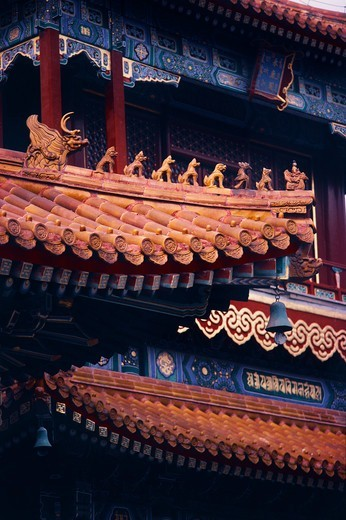 Stock Photo: 4009-1055 Details of designs of a temple, Temple Of Heaven, Beijing, China