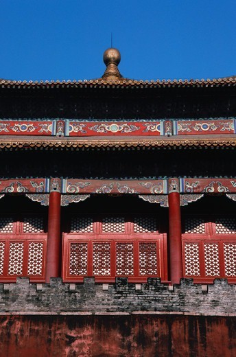 Stock Photo: 4009-1071 Low angle view of an ancient Chinese building, Temple Of Heaven, Beijing, China
