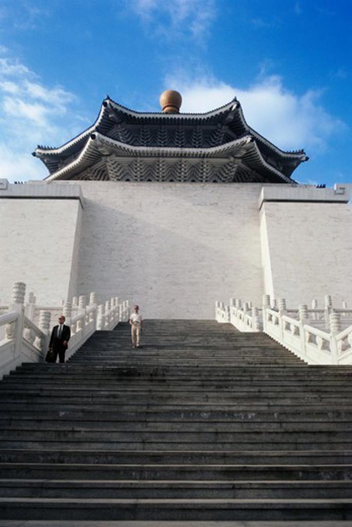 Stock Photo: 4009-1084 Steps leading to a memorial, Chiang Kaishek Memorial Hall, Taipei, Taiwan