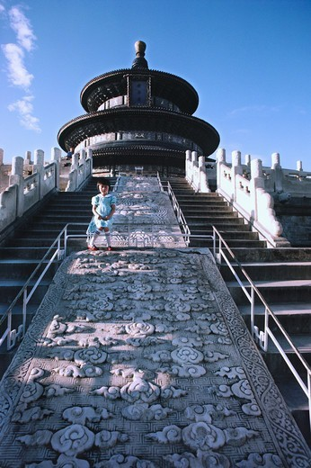 Stock Photo: 4009-1104 Steps of Hall Of Prayer For Good Harvests, Temple Of Heaven, Beijing, China